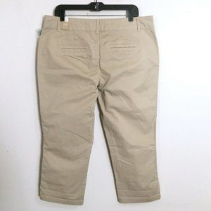 Maurices Casual Tan Stretch Capri Pants 11 / 12